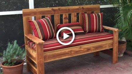 Sensational Upcycled Wood Outdoor Bench Garden Bench Diy 60 Inch Bralicious Painted Fabric Chair Ideas Braliciousco