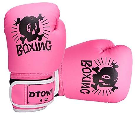 Dtown Kids Boxing Gloves Children Age 3 to 7 Years 4oz PU Leather
