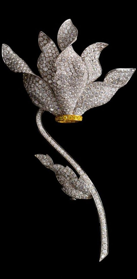 A Fine 18 Karat Gold and Diamond brooch