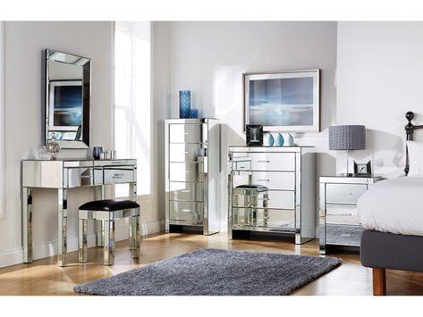3 drawer narrow mirrored bedside table ideas | dekorasi