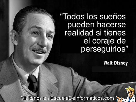 Walt Disney Motivación Tecnología Frases Disney Walt
