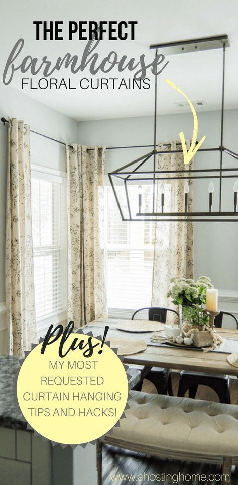 Farmhouse Curtains Joanna Gaines : farmhouse, curtains, joanna, gaines, Farmhouse, Style, Curtains, Joanna, Gaines, Ideas, House, Living, Room,, Curtains,, Dining