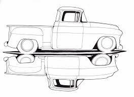 Image Result For Line Art 1963 Chevy Short Bed Camioneta Dibujo Dibujos De Coches Dibujos De Autos