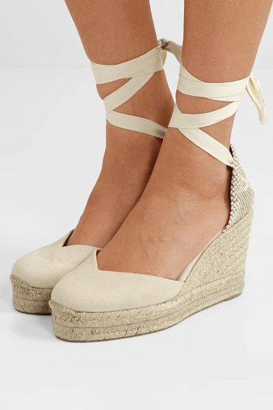 6186a7d17b3 Castañer - Chiara 80 Canvas Wedge Espadrilles - Ivory in 2019 ...