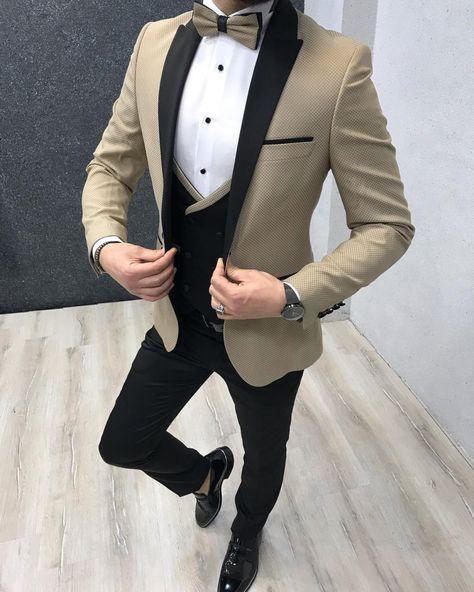 Calvert Slim Fit Suit – Gold
