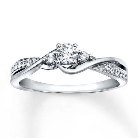 Diamond Engagement Ring 1/3 ct tw Round-cut 10K White Gold. Absolutely love this one.