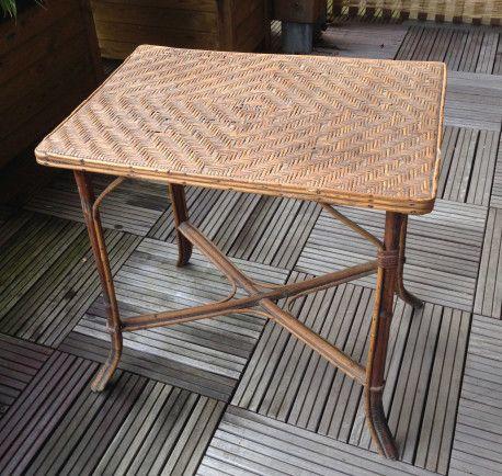 Table Rotin Vintage Table Rotin Rattan Vintagefurniture Vintage Decor Home Decor Furniture