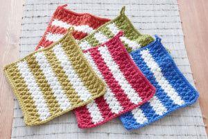 dish cloth crochet pattern, intermediate - lion brand