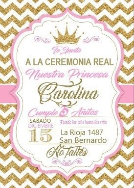 Tarjeta De Comunión En Rosa Y Dorado Invitaciones De