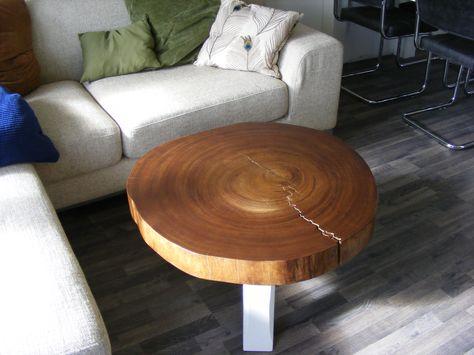 3 My Diy Wood Slice Stump Coffee Table Home Decor Wood Slices