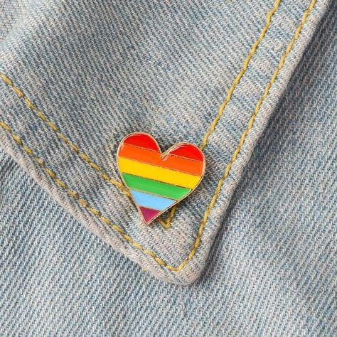 Rainbow Heart - Enamel Pin
