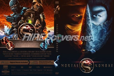 DVD Cover Custom DVD covers BluRay label movie art - DVD CUSTOM Covers - M / Mortal Kombat (2021)