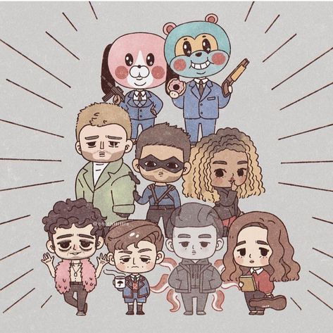 Read Umbrella Academy al completo from the story Fanarts T. Umbrella Art, Under My Umbrella, Dysfunctional Family, Amazing Art, Iphone Wallpaper, Chibi, Creations, Geek Stuff, Kawaii