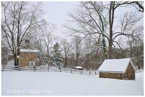 Winter at Thompson Neely Farm Washington's Crossing, Bucks County,Pa...