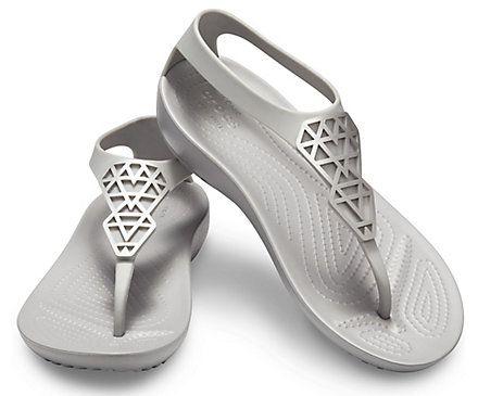 Women S Crocs Serena Embellished Flip Crocs Embellished Flip Flops T Bar Shoes Crocs