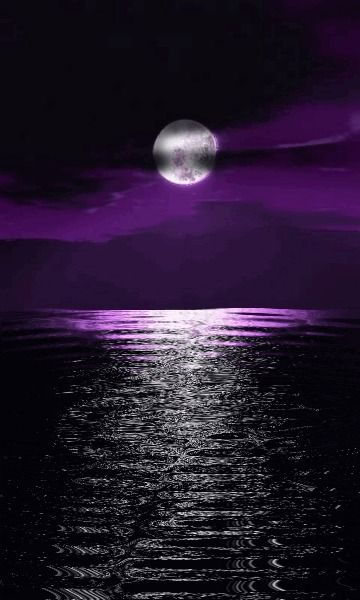 Purple moon reflections