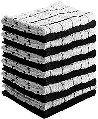 Utopia Towels 12 Pack Kitchen Towels Cotton Dish Towels Tea Towels Bar Towels