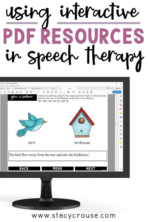 Using Interactive PDF Resources In Speech Therapy