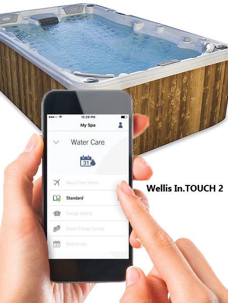 Aplikacja Wellis In Touch 2 Do Sterowania Zdalnie Wanna Wellis Z Serii Peakline Cityline Z Telefonu Galaxy Phone Spa Water Samsung Galaxy