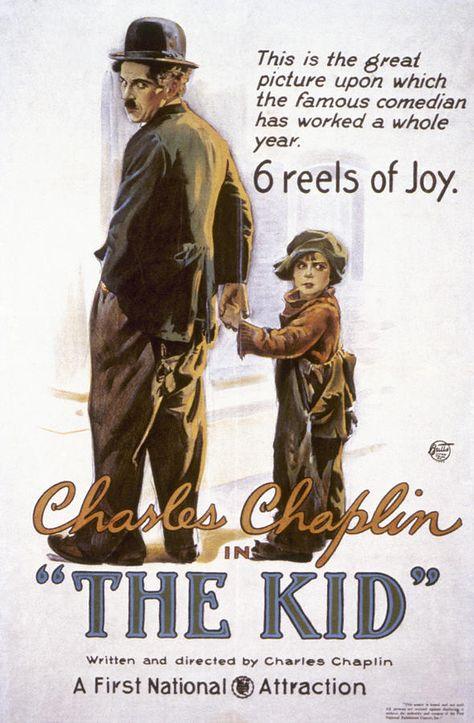 Chaplin movie projected on presentation wall