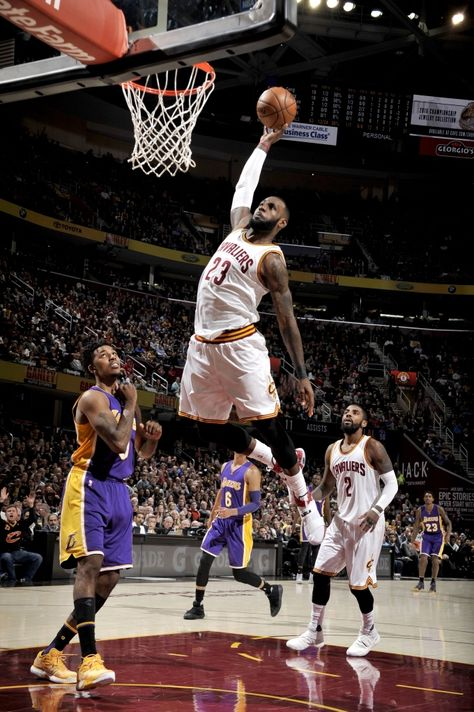 LeBron James #23 of the Cleveland Cavaliers goes to the basket