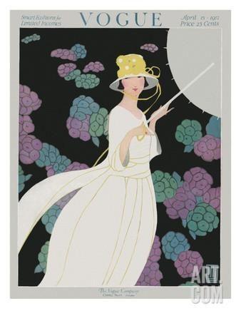 Premium Giclee Print: Vogue Cover - April 1917 Art Print by Alice de Warenne Little :
