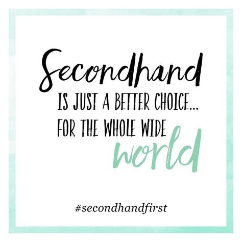#EarthDay is just around the corner. ⭐️Why do you shop secondhand? #secondhandfirst #earthday #green #qotd #instagood