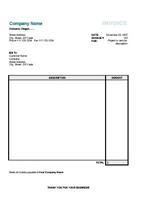 blank invoice template work invoices Pinterest Invoice - example of invoice for services rendered