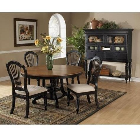 Hillsdale Furniture 4509dtbrndc5 Wilshire Round Dining Set By