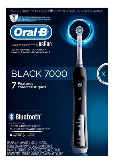 Oral B Black 7000 Smartseries Rechargeable Electric Toothbrush W Bluetooth Read Ebay Escova De Dente Dentes Embalagens