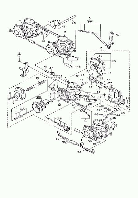 1992 Yamaha Fzr600 Carburetor Diagram Diagram Carburetor Yamaha