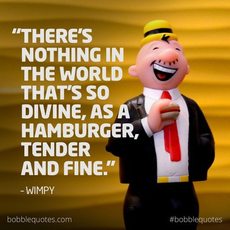 Bobblequotes Quotes Memes Bobblehead Wimpy Popeye