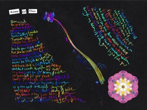 Coldplay A Head Full Of Dreams Booklet Genius Coldplay Coldplay Lyrics Calendar Design