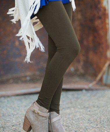 Look at this #zulilyfind! Coffee High-Waist Fleece Leggings by White Plum #zulilyfinds 11.99