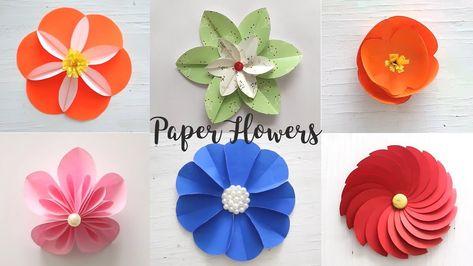 6 Easy Paper Flowers