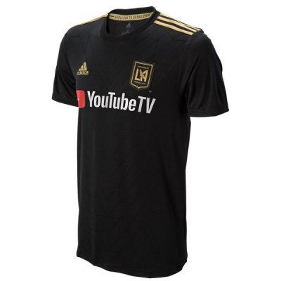 Pin On 1819 Los Angeles Fc Home Black Soccer Jersey Shirt
