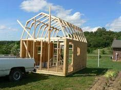 Follow these easy steps to building your shed roof gambrel style.  How to build a shed using prebuilt gambrel trusses for your shed roof. Shed construction made easy