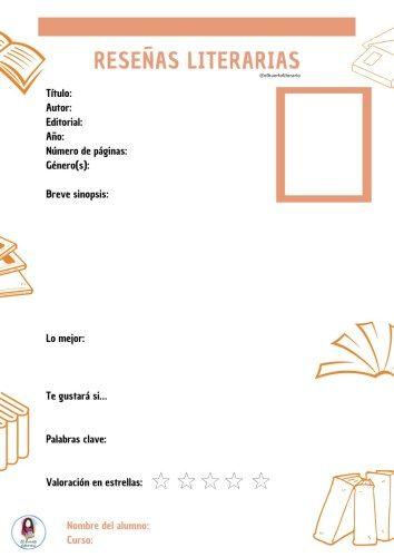 Ficha Para Hacer Reseñas Literarias Orientacion Andujar Libros De Lectura Reseñas De Libros Apuntes De Lengua