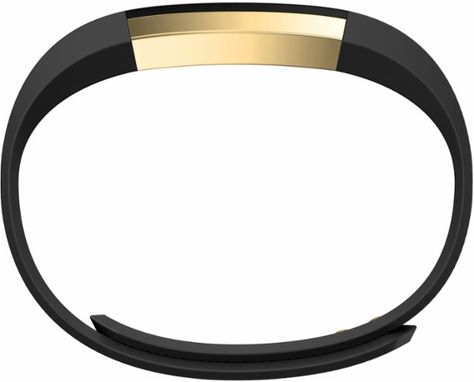 Fitbit - Alta Gold Series Activity Tracker (Large) - Black/Gold ...