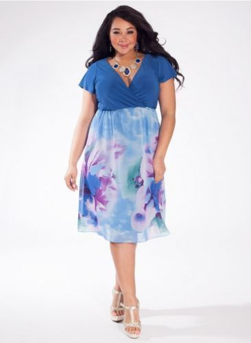7a4ba7bd6 You're ready for any occasion in Kayla style blue floral … | Style ...