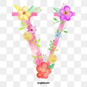 Flowers Letter V Letter Flower V Png Transparent Clipart Image And Psd File For Free Download Flower Text Letter V Clip Art