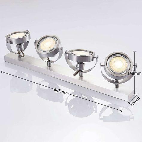 Spot Led Munin Dimmable Aluminium 4 Lampes En 2020 Led Spot Led Et Lampe Led