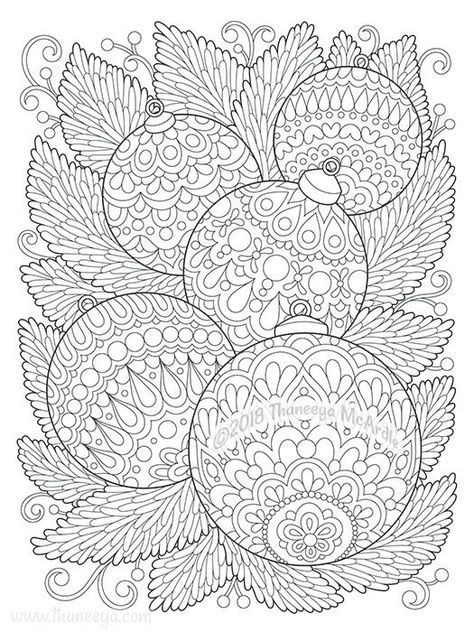 christmas ornaments coloring page from thaneeya mcardle's
