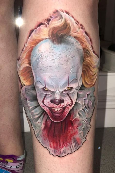 Bill Skarsgård as Pennywise from the remake of 'IT'