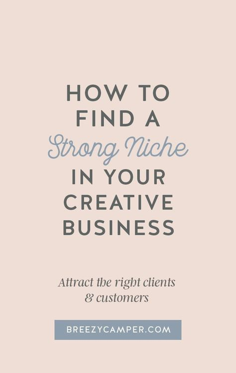 How to find a niche market for your creative business