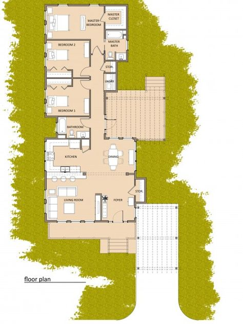 Storage Container Home! Love this floor plan.