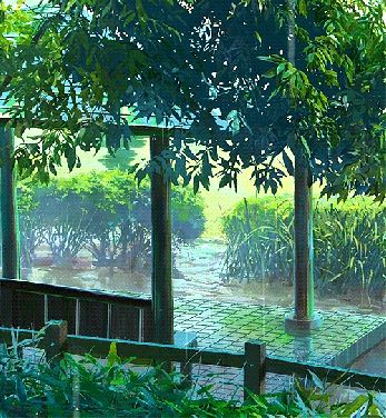 NaPoWriMo Poetry form: Tanka A certain pleasure seeps throughout my arid soul when the rain gently coaxes the unyielding earth till it turns lush and verdant. Image Credit: GIF from The Garden of Words