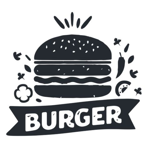 Hamburguesa Comida Logo Logotipo Silueta Descargar Png Svg