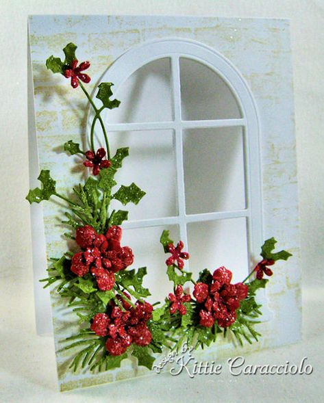 Good Monday morning. I have another see thru window to share with you today. I love the Poppystamps window dies, especially the arched windows in