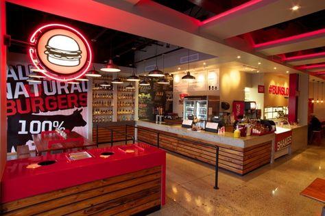 Interior Design for Buns Burger Shop at Guaynabo, Puerto Rico.